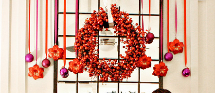 Meg3 Orange and purple ornaments